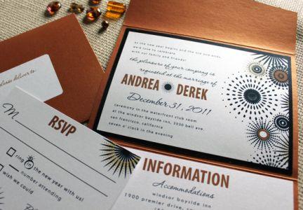 Sparkle Of Love New Years Eve Wedding Invitation