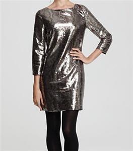 T Tahari Ezra Python Print Sequin Dress