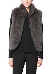 Theory Hanalee Knitted fur vest