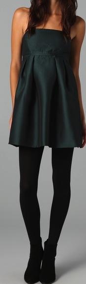 Tibi Strapless Jacquard Dress