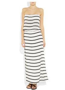 Vix Odette strapless voile maxi dress