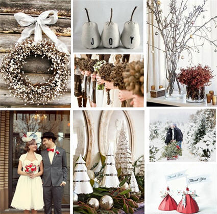 Winter Wedding Favors | Holiday Themed Wedding | Christmas Wedding