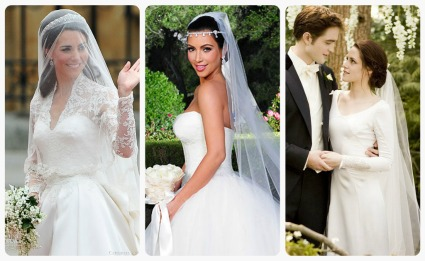 Kate Middleton Wedding Dress Replica | Kim Kardashian David\'s Bridal