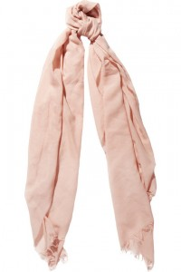 ACNE Laurence Cotton and Silk Blend Scarf