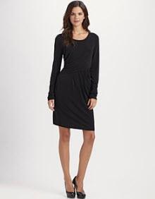 DKNY draped dress