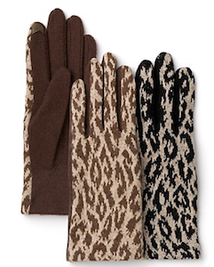 Echo Cheetah Touch Gloves