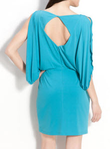 Jessica Simpson Slit Batwing Sleeve Dress