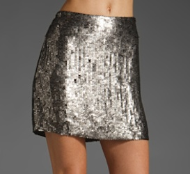 Milly Classic Sequin Mini Skirt