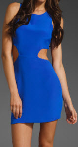 NAVEN The Cut Out Dress in Vegas Blue