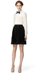 Sheer blouse ($34.99), Full skirt ($29.99)