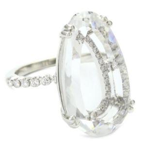 Suzanne Kalan Vitrine White Topaz and Diamond Ring