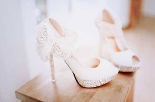 theyre here theyre sheer get used to it lace wedding shoes are the years biggest trend
