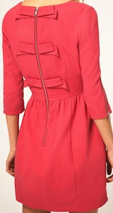 Pique Fit And Flare Dress With Bow Back Detail