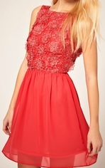 Skater Dress With Flower Applique