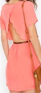 Scalloped Cutout Dress