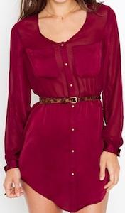 Crimson Shirtdress