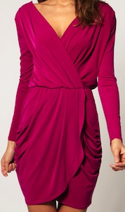 Drape Dress With Cross Front
