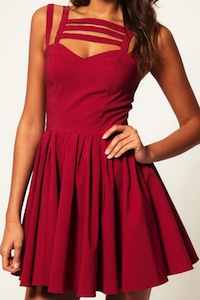 Skater Dress With Multi Strap