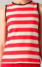 Striped Tank with Contrast Trim