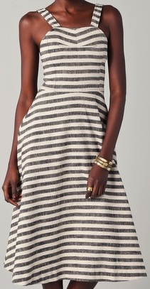 Striped Dress With Circle Skirt