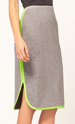 ASOS Pencil Skirt With Flouro Trim