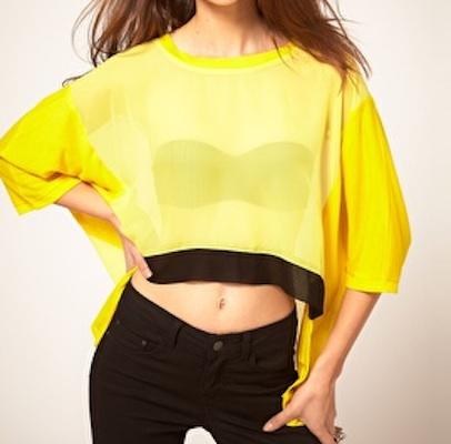 ASOS Reverse T Shirt In Neon Jersey