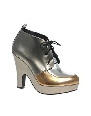 ASOS TREACLE Metallic Shoe Boot
