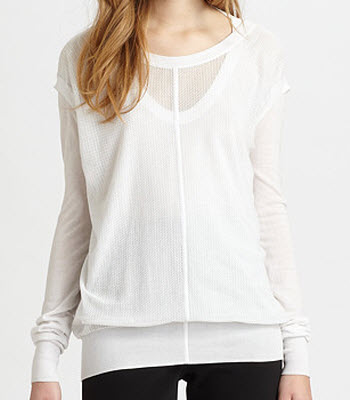Alexander Wang Double Layer Mesh Pullover
