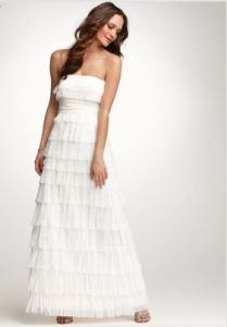 Get 25 off of sleek sophisticated wedding dresses from ann taylor shefinds weddings junglespirit Images