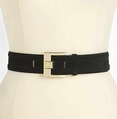 Anne Klein Suede Panel Belt