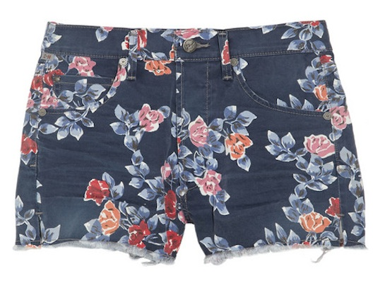 Citizens of Humanity Chloe High Rise Printed Shorts