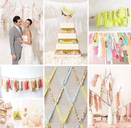 Fringed Wedding Decor | Tissue Paper Wedding Decor « SHEfinds
