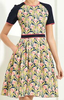 Taffeta Scuba Dress