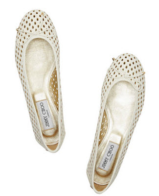 Jimmy Choo Walsh Perforated Leather Ballet Flats