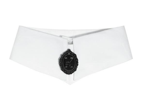 Karl Printed Cotton Poplin Cameo Collar