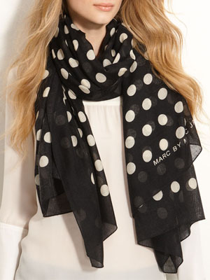 MARC BY MARC JACOBS 'Hot Dot' Cashmere & Silk Scarf