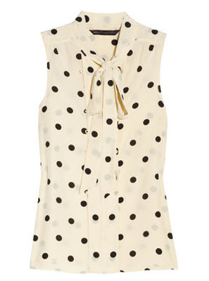 Marc by Marc Jacobs Hot Dot Silk Blouse