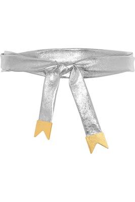 Meredith Wendell Metallic Leather Belt