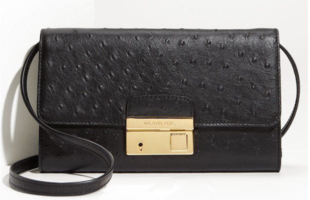 Michael Kors Gia Ostrich Embossed Clutch