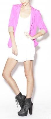 Naven Blazer in Pop Pink