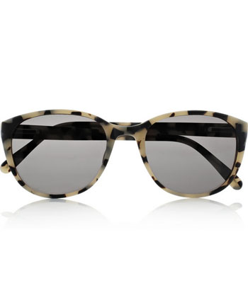 tortoise shell sunglasses yf02  PRISM Antwerp Round-Frame Matte-Acetate Tortoiseshell Sunglasses