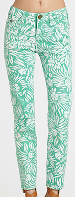 Classic Skinny Jeans in Green