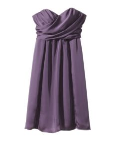 Strapless Wrap-Front Chiffon Dress