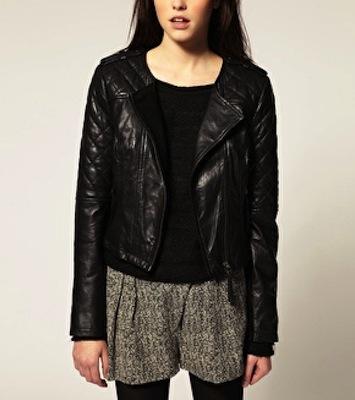 Miranda Kerr Leather Jacket | Balenciaga Motorcycle Jacket В« SHEfinds