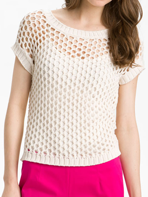 Vince Camuto Open Mesh Stitch Sweater