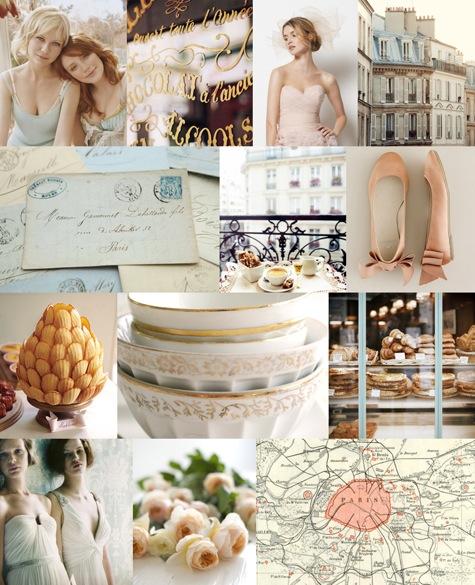 French Blue Wedding Blush Bridesmaid Dresses Blue Pink Theme Wedding