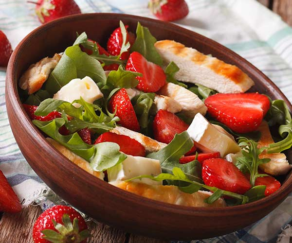 healthy salad with watermelon