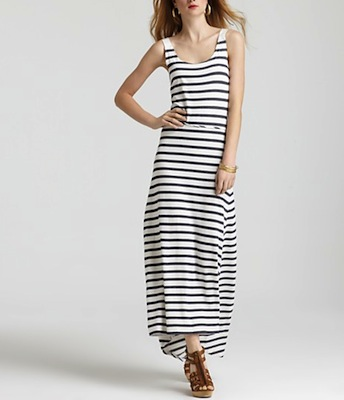 Black  White Striped Maxi Dress on Adriano Goldschmied Sailor Stripe Maxi Dress   160  Bloomingdale   S