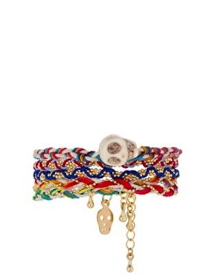 ASOS Retro Skulls Friendship Bracelet Pack