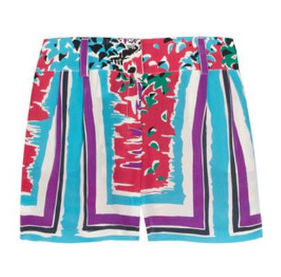 Alberta Ferretti Printed Silk Shorts